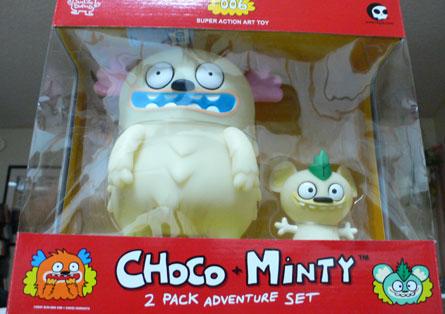 choco & minty glow in the dark vinyl toy