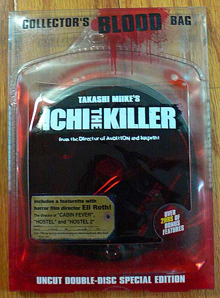 Takashi Miike's Ichi The Killer, 2 Disc Blood Bag DVD Edition