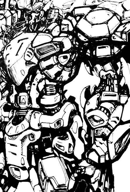 close up of robot illustration