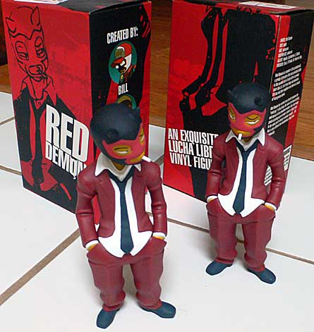 Muttpop's Red Demon vinyl figures