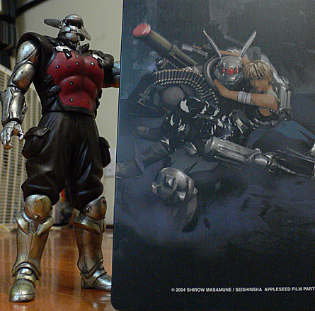 Masamune Shirow's Appleseed Limited Edition DVD and Briareos Hecatonchires figure; back