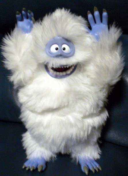 abominable snowman, rudolph the red-nosed raindeer