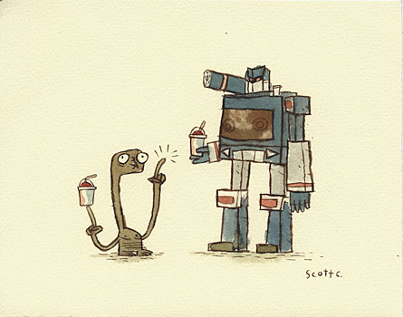 friends with E.T. by Scott Campbell