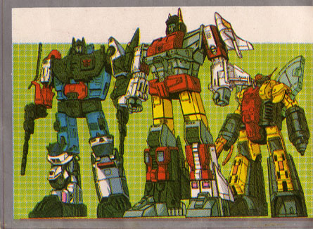 japanese transformers stickers, Omega Supreme, Aerialbots Superion, Protectobots Defensor