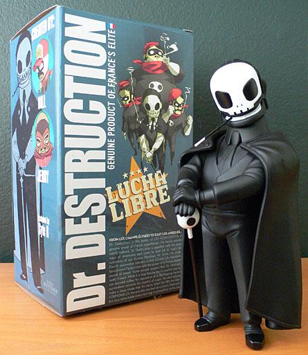 Lucha Libre Dr. Destruction by Muttpop, Black Bean Edition Vinyl Figure