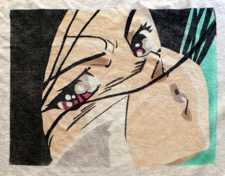 Battle Angel Alita (Gunnm) t-shirt, airbrushed graphic, tee, by alendry lumagui