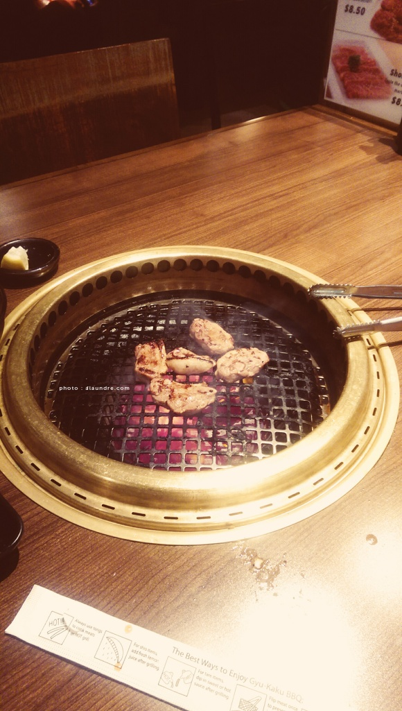 tried japanese barbecue for a change. duck breast on the grill.