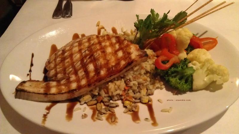swordfish. tastes like regular fish.