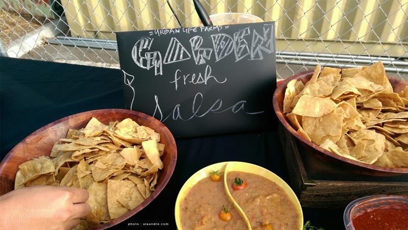 Fresh organic garden salsa